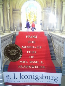 From the Mixed-up Files of Mrs. Basil E. Frankweiler read by 3rd graders.