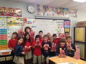 Ms. Allen took time out of her busy schedule to come in and read a few chapters of Gangsta Granny to our class.